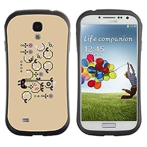 "Pulsar iFace Series Tpu silicona Carcasa Funda Case para SAMSUNG Galaxy S4 IV / i9500 / i9515 / i9505G / SGH-i337 , Patrón Beige Dibujo de la historieta"""