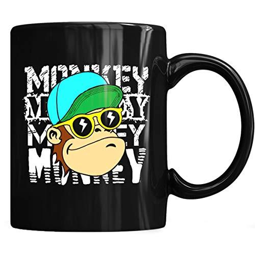 Cool Monkey Gangsta Thug Life Monkey Costume Gift Mug - Monkey Lovers Coffee Mug 11oz Gift Black Tea -