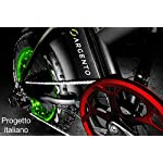 Argento-Bicicletta-elettrica-Omega-Citta-Unisex-Adulto-Grigio-e-Verde-taglia-unica