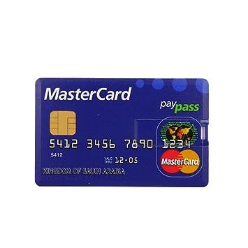 Amazon.com: Unidad flash USB 2.0, tarjeta de crédito ...