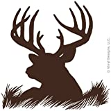 Cheap Deer Head Silhouette Buck Hunting Vinyl Wall Decal Sticker Art, Home Decor, Mural