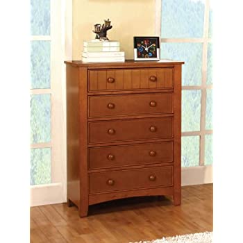 drawers for bedroom. Furniture of America Oscar 5 Drawer Bedroom Chest  Oak Amazon com American Classics 2155 Five