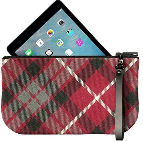 with Mini Red Leather Enough Fit Small Clutch iPad Tartan Bag Fraser Large to OTUdtnqW