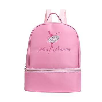 Girls Personalised Ballet Shoes Glitter Backpack Kids Dance School Rucksack Bag