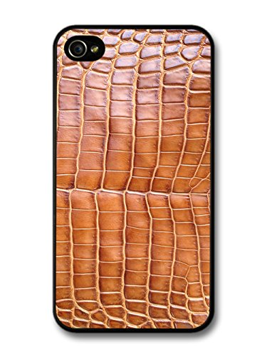 Beautiful Brown Patterned Crocodile Skin Texture coque pour iPhone 4 4S
