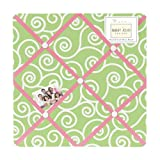 Sweet Jojo Designs Pink and Green Olivia Fabric Memory/Memo Photo Bulletin Board
