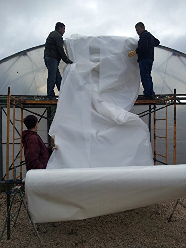 Greenhouse White Plastic Film Polyethylene Covering Gt4 Year 6 Mil 16ft Wide X 25ft Long by SunView White (Image #1)