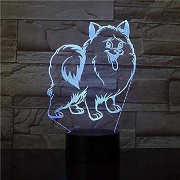 Lámpara de Mesa Cachorros lámpara de Mesa de luz Nocturna Control ...