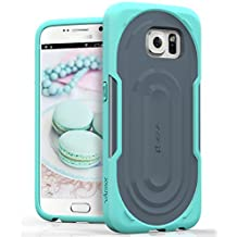 Vena® Samsung Galaxy S6 Case [vArmor] Ultimate Protection [Slim | Heavy Duty] Hybrid Case Cover for Galaxy S6 (Teal / Gray)