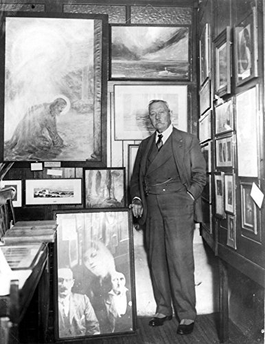 Arthur Conan Doyle N(1859-1930) British Physician And Writer Photographed In 1928 Amidst His Psychic Pictures In His Psychic Museum In London Poster Print by (24 x 36)