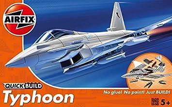 Airfix Quick Build Eurofighter Typhoon Avión Kit De Modelismo: Amazon.es: Juguetes y juegos