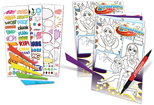 Amazon Com Dc Superhero Girls Comic Book Design Set Toys Games
