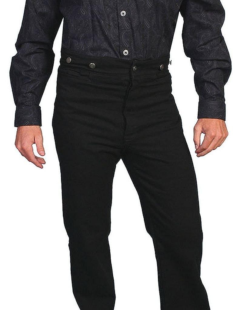 564552 BRN Scully Wahmaker Mens Wahmaker Canvas Saddle Seat Pants