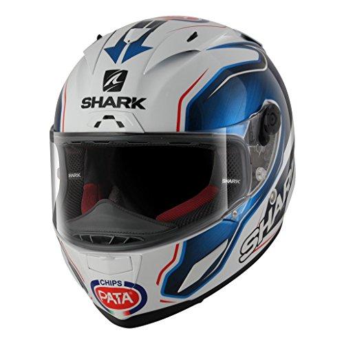 Shark Helmets RACE-R PRO Replica Guintoli - WHITE/BLUE / RED - XL