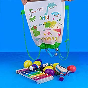 Shark Party Bags Reusable Drawstring Bags 12Pcs Kids Birthday Party Supplies Give Aways Gift Treat Pouch Drawstring Bags Party Favours Candy Goodie Bags for Children Girls Boys Toddlers