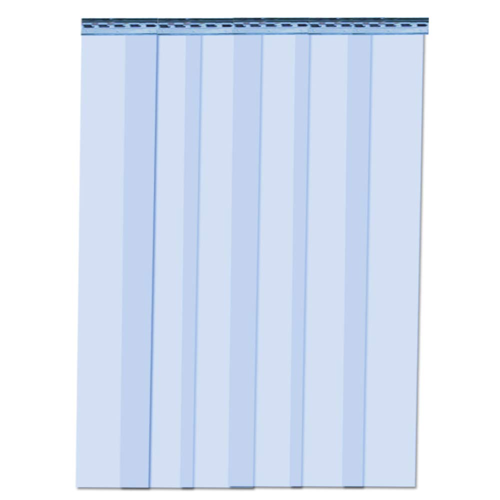 "VIZ-PRO Strip Door Curtain 3' Width x 7' Height Standard Clear PVC 7.87"" Strips with 56% Overlap"