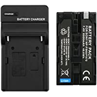 D&F NP-F970 NP-F960 Li-ion Replacement Battery with Recharge Charger for Sony NP-F970/ 960 Camcorder LED Video Light