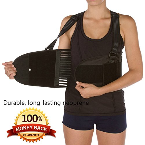 Copper Active Back Braces for Men and Women | Straightens Lower Back ­ Comfortable Fit with Shoulder Support Back Brace for Lifting with Adjustable Waist Belt - for Men/Women ­!