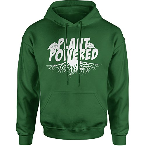Hoodie Plant Powered Adult Medium Forest Green