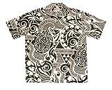 Hilo Hattie Tribal Tattoo Honu Black Aloha Shirt Size Large