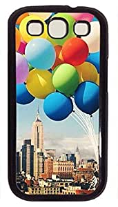 Hu Xiao Balloon- New Design Image Printed On Hard Plastic Back case cover For Samsung Galaxy S3 I9300 Black PC cell phone case cover Skin bLK7KIWMsOG for Samsung Galaxy S3 I9300