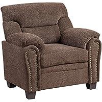 Furniture World Jefferson Armchair, Chocolate Chenille Fabric