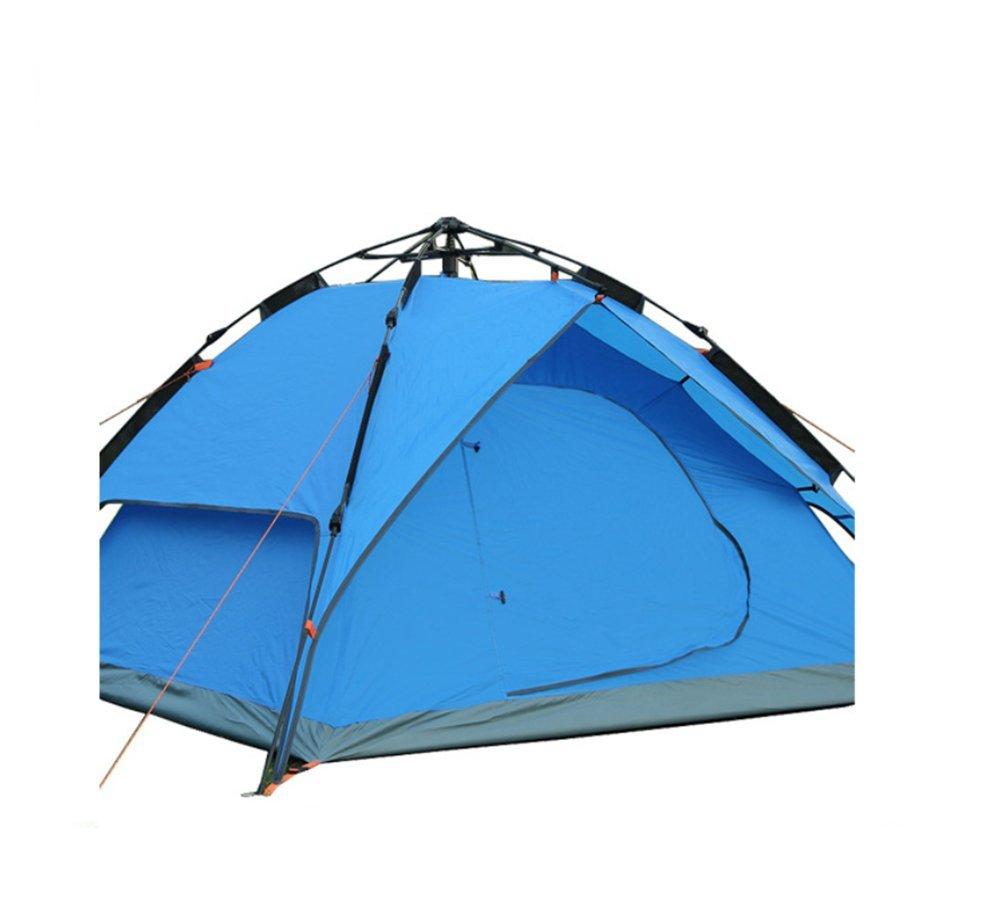 QGFL Komplett automatisch Zelt 3-4 Personen Wasserdicht Sonnencreme Zelt Draussen Camping Tourismus Artikel