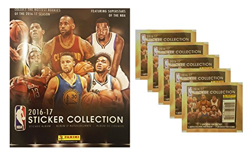 2016-2017-nba-sticker-collection-starter-set-album-plus-5-packs-of-stickers