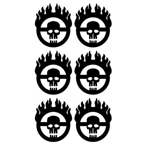 (Mad Max Fury Road Style 6 Tiny Size Individual Warboy Symbol Decals 5 Year Outdoor Premium Vinyl - Single Kit -)