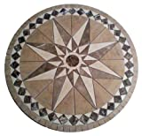 Tile Floor Medallion Marble Mosaic Travertine Star 48''