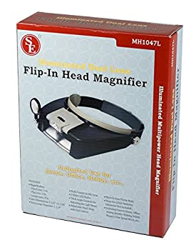 Se Mh1047l Illuminated Multi-power Led Head Magnifier 1
