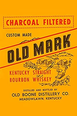 Buyenlarge 'Charcoal Filtered Old Mark Kentucky Straight Bourbon Whiskey' Paper Poster, 20 by 30-Inch
