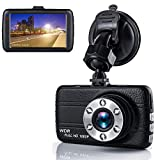 Dash Cam,Dashboard Camera, Frehoy Full HD 1080, 3.0' Screen DVR Car Dashboard Camera Recorder with 170° Wide Angle, Night Vision, G-Sensor, WDR, Loop Recording6 Motion Detection, Parking Monitor09 ...