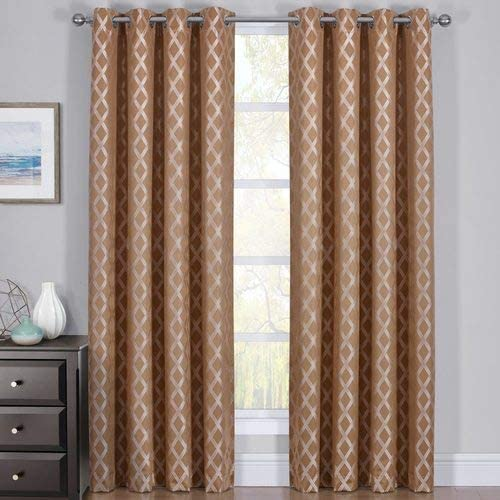 Set of 2 Blackout Curtain Panels Triple Pass Thermal Insulated and Luxury Rosaline 54×108 inch
