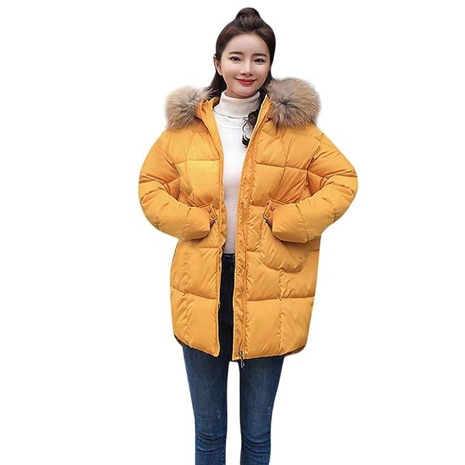 Bestow Abrigo de Invierno cálido Grueso de Las Mujeres Abrigo con Capucha Chaqueta Delgada de algodón Acolchado de Manga Larga: Amazon.es: Ropa y accesorios