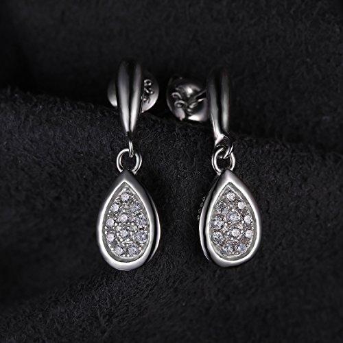 JewelryPalace Originale Bague Boucles d'Oreilles Collier 45cm Brecelet Parures en Argent Sterling 925 en Zircon Cubique de Synthèse CZ