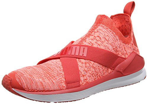 Fierce Puma Rosso white Evoknit Indoor Sportive Donna poppy Scarpe Red dAAwqr