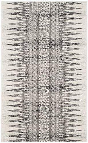 Safavieh Evoke Collection EVK226D Modern Bohemian Area Rug, 9 x 12 , Ivory Grey