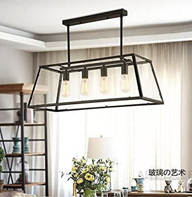 GAO Chandelier 3 The First Black American Rural Living Room Iron Art Nouveau Chandeliers Glass Industrial Restaurant Shops of Creative Loft Bar Lamps