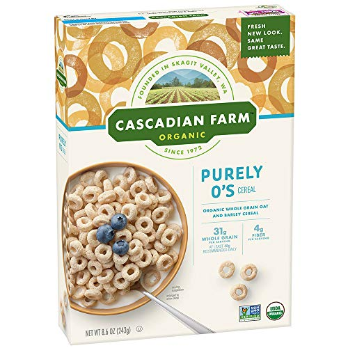 Cascadian Farm Organic Cereal, Purely O's, 8.6 Ounce (Pack of ()