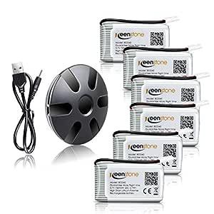 Keenstone Batería de Reemplazo para Syma X5C, 6PCS 3.7V 720mAh 20C ...
