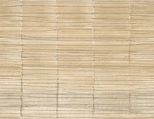 (Bamboo Wallpaper Sand Charcoal Cream Raised Texture Modern Minimalist Double Rolls Unpasted)