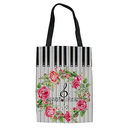 9 de Music mujer Music reutilizable la de 14 Showudesigns Bolso compra lino para qZ7qOIwx