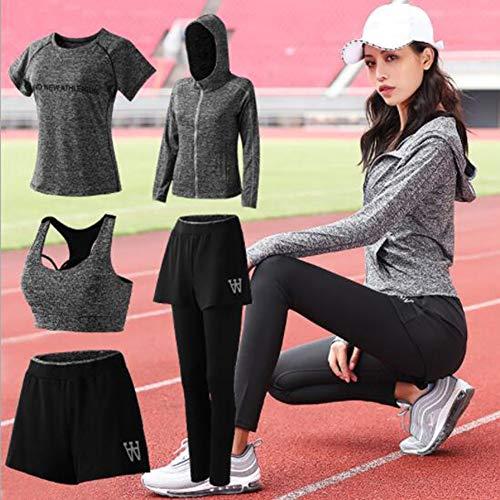 ensemble À Serré Yoga Pièces Respirante Femmes Running Pour D'entraînement Rapide 运动健身Combinaison 5 Séchage Le De Vert 7Yqya