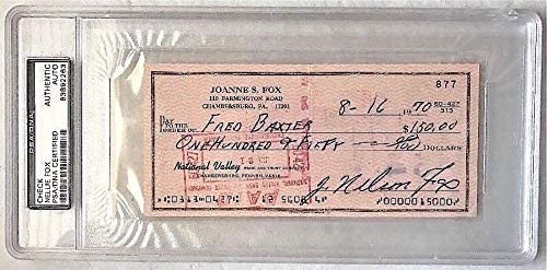 Nelson Fox HOF Scarce Authentic Signature Slab Check PSA/DNA Authentic