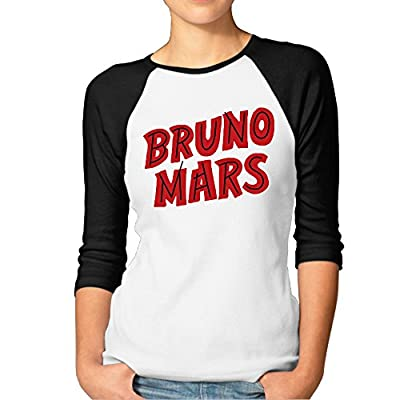 Print 3/4 Sleeve Raglan Female Animal Tshirts With Bruno Mars