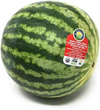 Mini Seedless Watermelon Organic, 1 Each