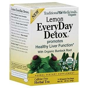 Traditional Medicinals Tea Everyday Detox Lemon, 16 ct