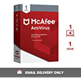 McAfee Anti-Virus - 1 PC, 1 Year
