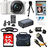 Sony Alpha a5100 24.3MP HD 1080p Mirrorless Digital Camera with 16-50mm Lens (White Essential Kit)